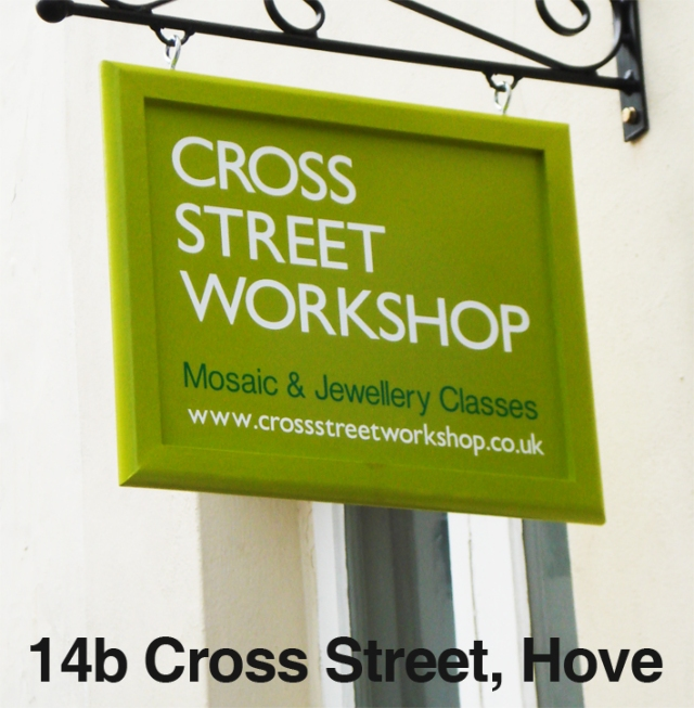 cross street sign