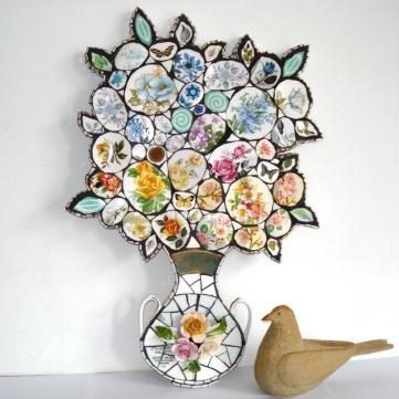 Springtime Bouquet Vase Mosaic